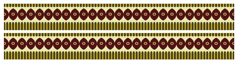 wandmotiv24 Frise ethnique de lAfrique comme Colle Frise et non-tiss/é Frise 260/x 15/cm