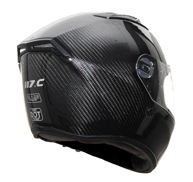 Carbon Fiber Motorcycle Helmet >> Amazon Com Stealth Carbon Fiber F117 Helmet Black Large Automotive