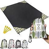 """Arrow Exclusive Outdoor Beach Blanket (71"""" x 55"""") Lightweight Mat, Waterproof Picnic Blanket   Sand Proof Camping Tarp, Compa"""