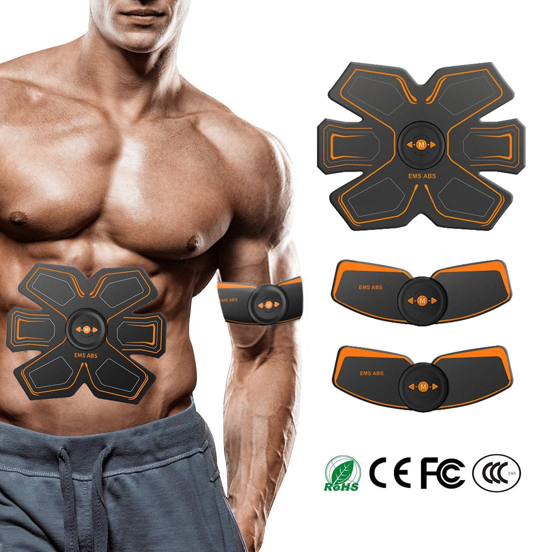 LOXIN Electroestimulador Muscular Abdominales Cintur/ón USB Recargable Hombre//Mujer Masajeador El/éctrico Cintur/ón Abdomen//Brazo//Piernas//Cintura Entrenador Muscular