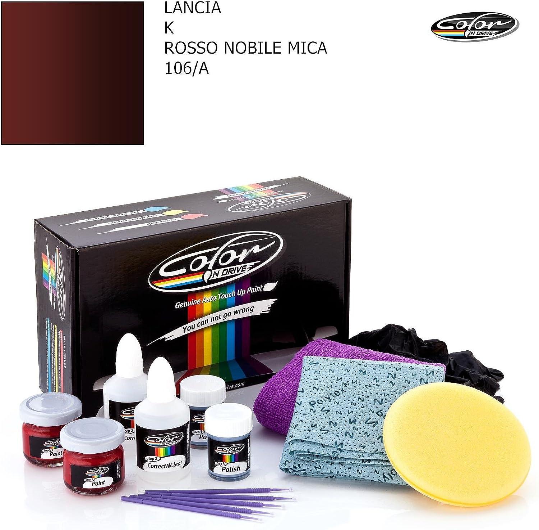 Lancia K Rosso Nobile Mica 106 A Color N Drive Ausbesserungslack Set FÜr Kratzer Und Steinschlagspuren An Ihrem Auto Plus Packung Auto