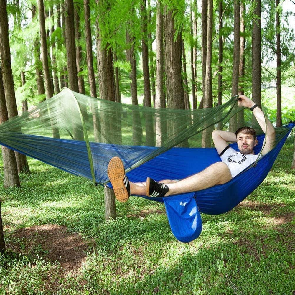 Zixin Anti-vuelco Acampar Velocidad de Apertura de Giro automático Anti-Mosquitos Mosquitos con Hamaca Neta, 4290 * 140