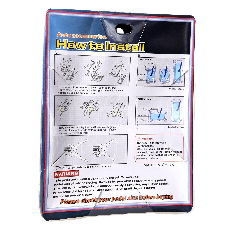 Manual del Pedal del Coche-Styling Coche Universal-Styling Los m/ás vendidos Freno de Embrague Cubierta del coj/ín de Goma for Nissan Qashqai 2007-2019 FJJ-TABAN