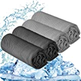"""YQXCC Cooling Towel 3 Pcs (47""""x12"""") Microfiber Towel for Instant Cooling Relief, Cool Cold Towel for Yoga Golf Travel…"""