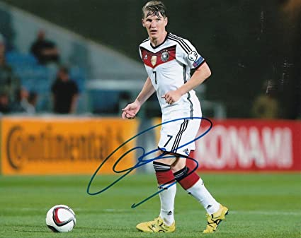 64a31a6e1 Image Unavailable. Image not available for. Color  Bastian Schweinsteiger  Autographed Photograph - WORLD CUP ...