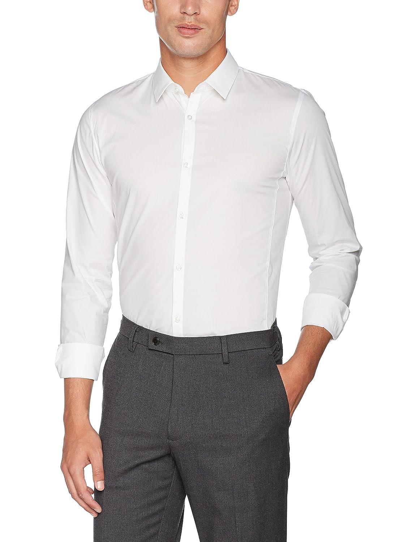 Blanc (Open blanc 199) Medium  HUGO Enin T-Shirt à Manches Longues Homme