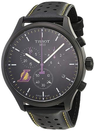 9e4426ea2735 Amazon.com  Tissot Men s Chrono XL NBA Chronograph La Lakers -  T1166173605103 Black Black Purple One Size  Tissot  Watches