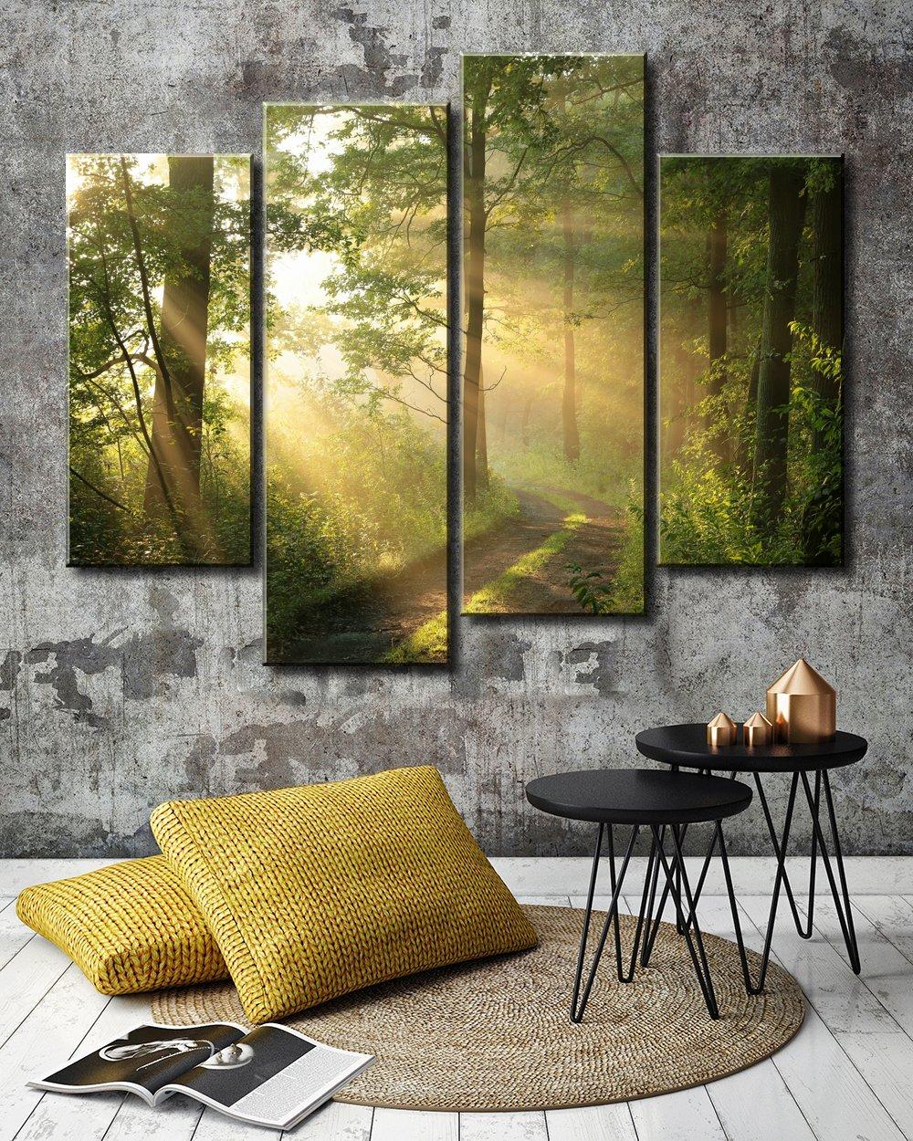 Amazon.com: 4 Panel XLL Huge Modern Canvas Painting Wall Art The ...
