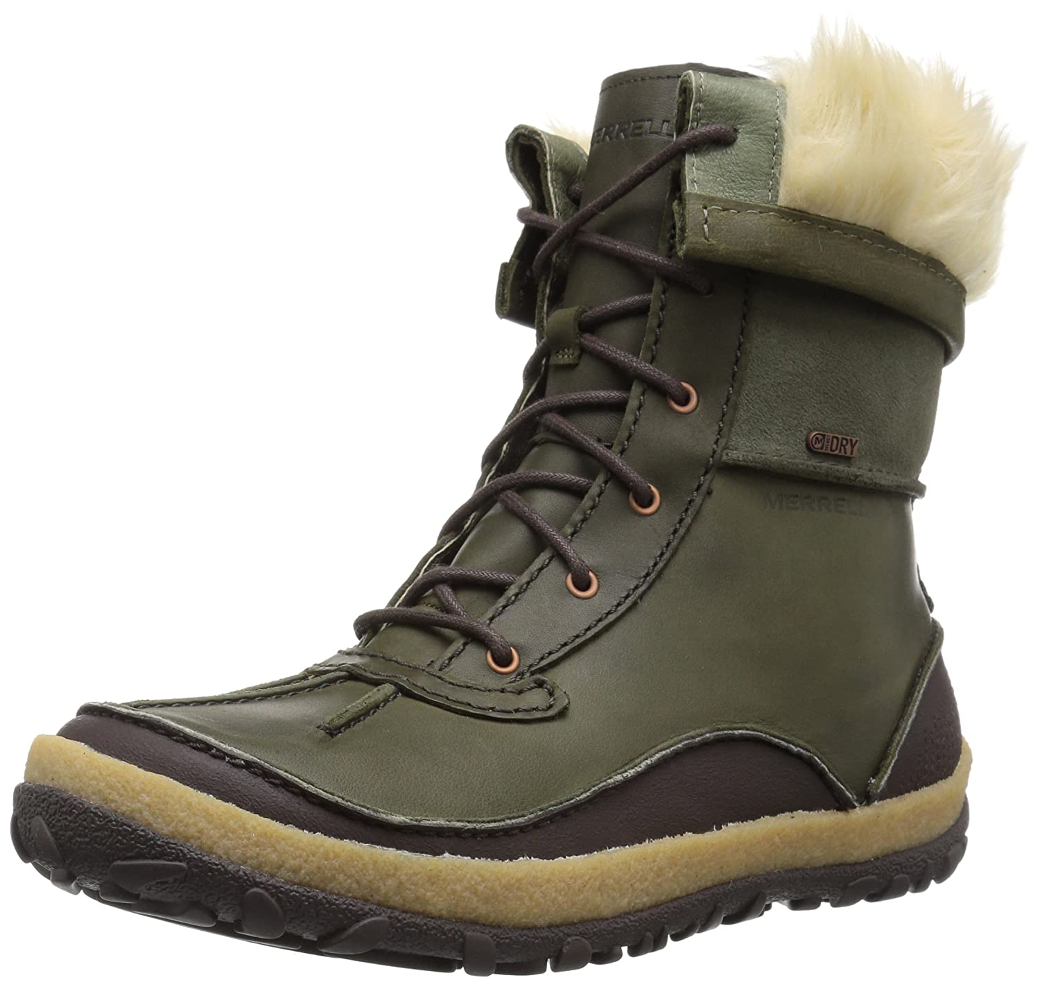 Merrell Women's Tremblant Mid Polar Waterproof Snow Boot B01N9I372X 10.5 B(M) US|Dusty Olive