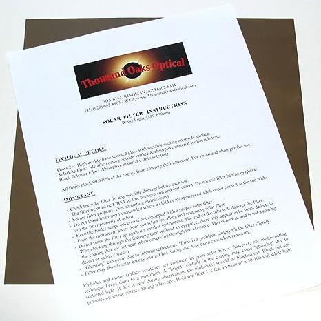 .com : bp-1212 - silver-black polymer solar filter film sheet ...