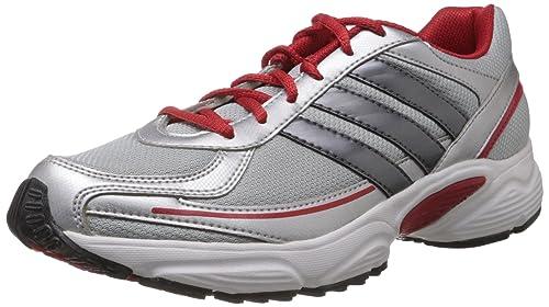 Buy Adidas Men's Dario M Metallic Silver, Red and White Mesh ...