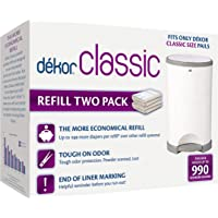Dekor Classic Diaper Pail Refills | 2 Count | Most Economical Refill System | Quick & Easy to Replace | No Preset Bag…