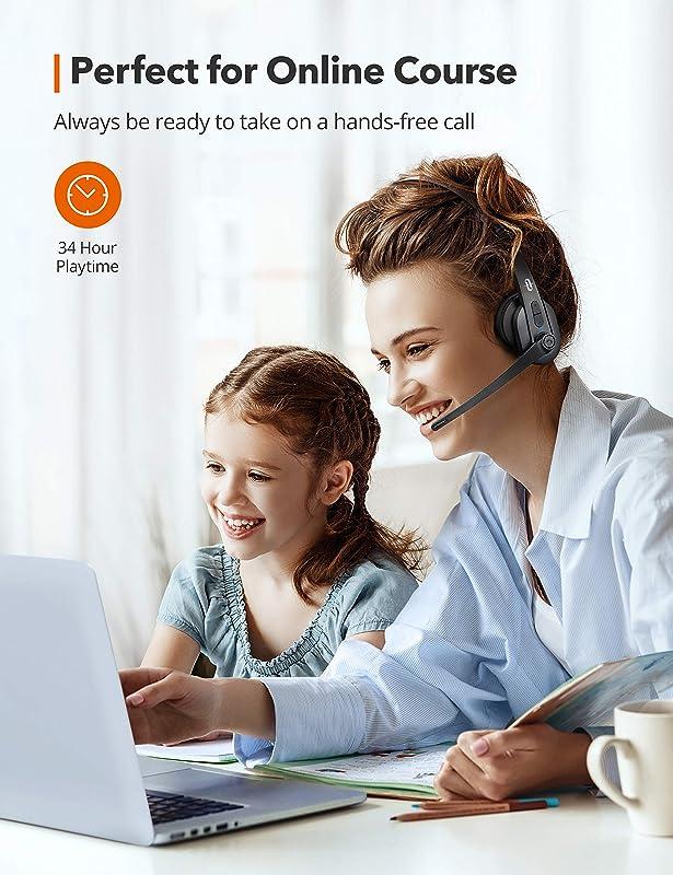 金盒特价 TaoTronics AI降噪 带麦无线蓝牙头戴式耳机 TT-BH041 7.1折$34.99 海淘转运到手约¥251