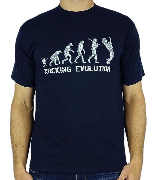 ... Player Evolution - Mecedora regalo de cumpleaños divertida  guitarra presente la camiseta para hombre Azul Marino 2XL  Amazon.es  Ropa  y accesorios 92d168bd67c