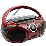 SINGING WOOD 030B CD, CD-R/RW Player Portable/w Bluetooth Analog Tuning AM/FM Radio Aux Input, Headset Jack, Foldable Carryin