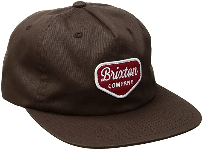 8f267c3f7 Brixton Men's Novato Snapback Baseball Cap, Brown, One Size: Amazon ...