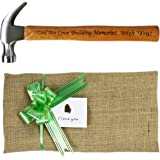 Langxun Father's Day Gift Dad We Love Building Memories With You ! Engraved Wood Handle Steel Hammer/Personalized Gifts Christmas Gifts