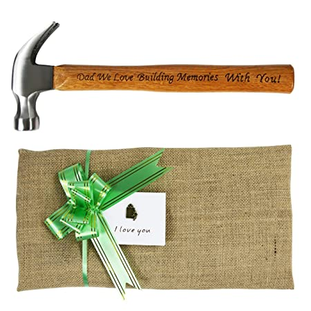 langxun fathers day gift dad we love building memories with you engraved wood handle steel