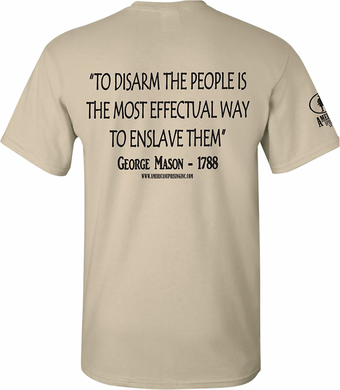 American Uprising George Mason Patriotic T-shirt Don/'t Tread On Me Gadsden Tee
