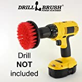 Heavy Duty Stiff Nylon Scrub Brush for Brick Concrete and Stone Cleaning with Quick Change Shaft