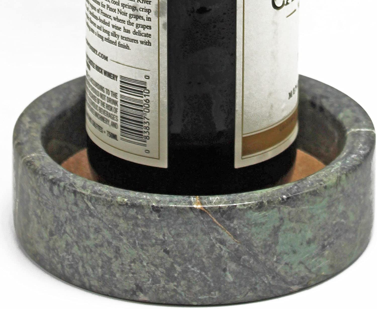 CraftsOfEgypt Green - Marble Wine Bottle Coaster - Coaster Absorbent Cork Holder Bottles and Any Occasion