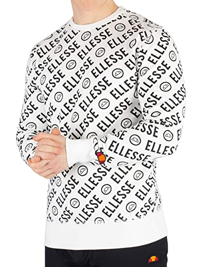 113533ff5b ellesse Men's Muro Sweatshirt, White: Amazon.co.uk: Clothing