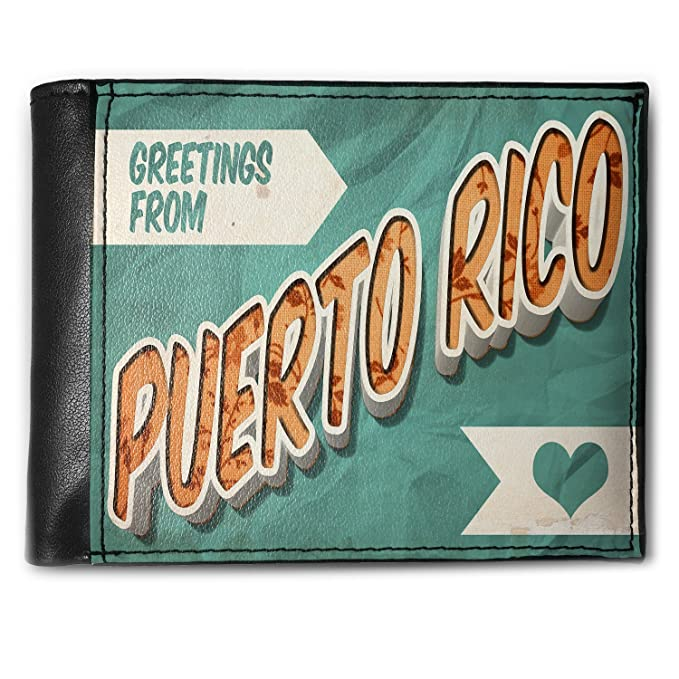 Amazon wallet greetings from puerto rico vintage postcard wallet greetings from puerto rico vintage postcard mens bifold id case neonblond m4hsunfo