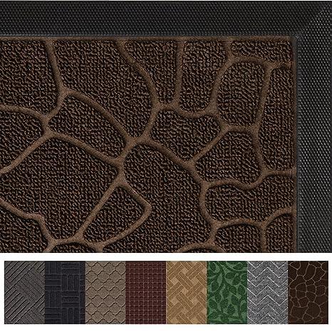 Gorilla Grip The Original Durable All Natural Rubber Door Mat, Indoor  Outdoor, 2