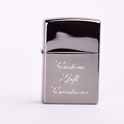 Amazoncom Personalized Zippo Black Ice Lighter Free Engraving