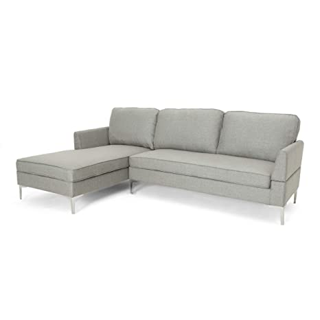 Super Miriam Chaise Sectional Sofa Set 2 Piece 3 Seater Mid Century Modern Gray Camellatalisay Diy Chair Ideas Camellatalisaycom