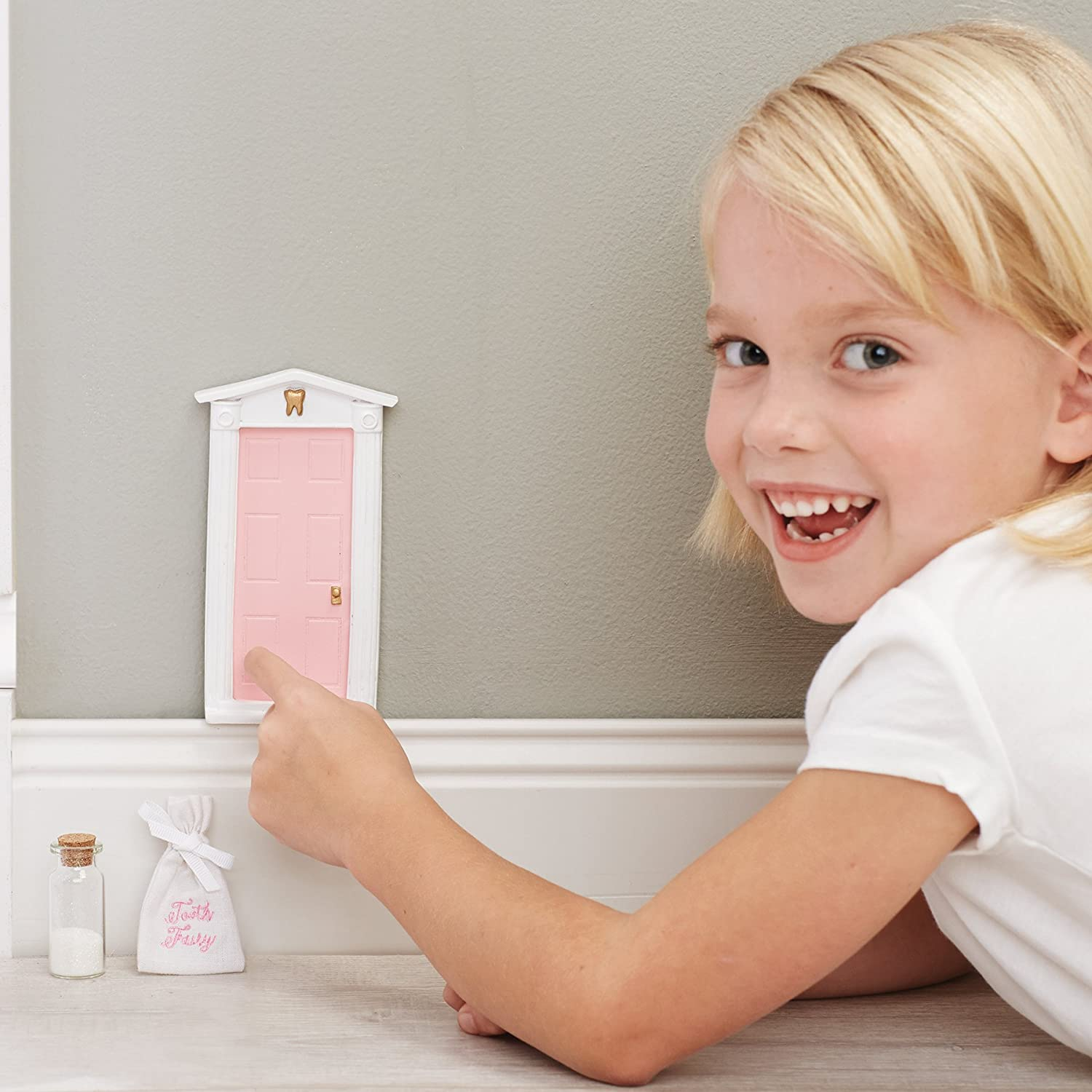 sc 1 st  Amazon.com & Amazon.com : Mud Pie Tooth Fairy Door Gift Set Girl Pink : Baby pezcame.com