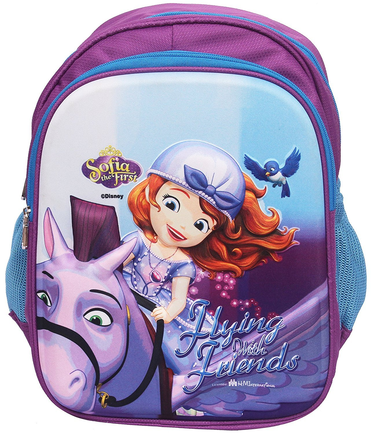 a6636f73d0c Disney Junior 3D Embossed Kids Backpack - in Disney Junior Characters (Sofia  The First Combo) 14 litres  Amazon.in  Toys   Games