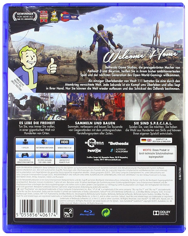 Fallout 4 Uncut Playstation 4 Amazonde Games