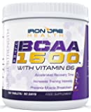 BCAA Ultra 1500 | Extra Strength 3000mg Branch Chain Amino Acid Post Workout Supplement | 180 Tabs | 3 Month Supply | Made in the UK by Iron Ore Health