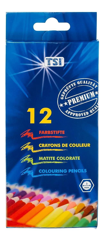 TSI 31514Wood Hexagonal Colouring Pencils–Pack of 12