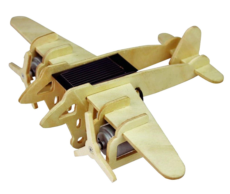 CEBEKIT Plane 3d puzzle–Solar Bimotor Aircraft P330, Beige (fadisel c-9761)