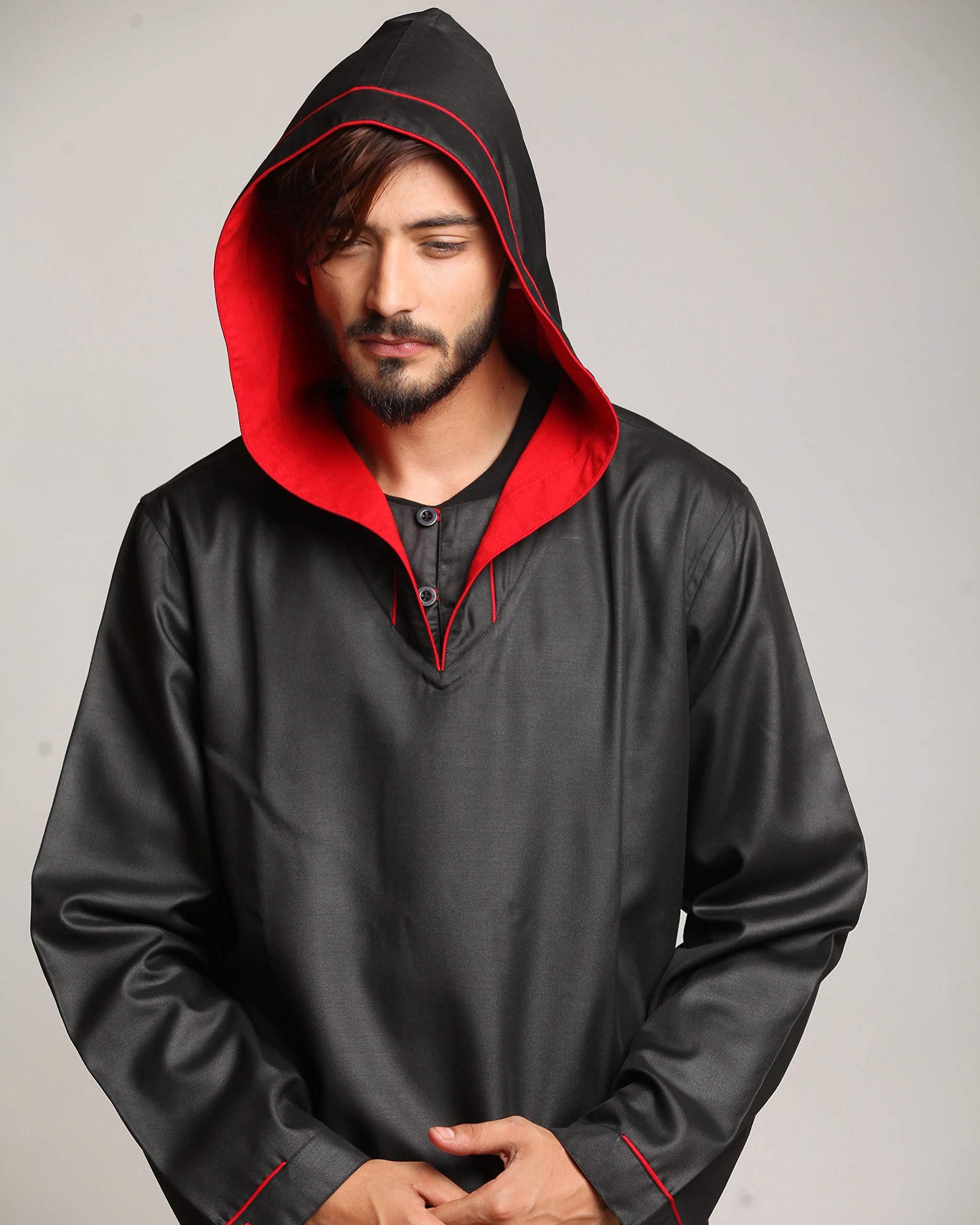 Hussn Mens Thobe Kaftan Kamani-Islamic Clothing Jubba for Men
