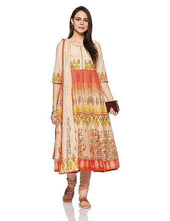 7dc5eb3349 BIBA Women's Anarkali Salwar Suit: Amazon.in: Clothing & Accessories