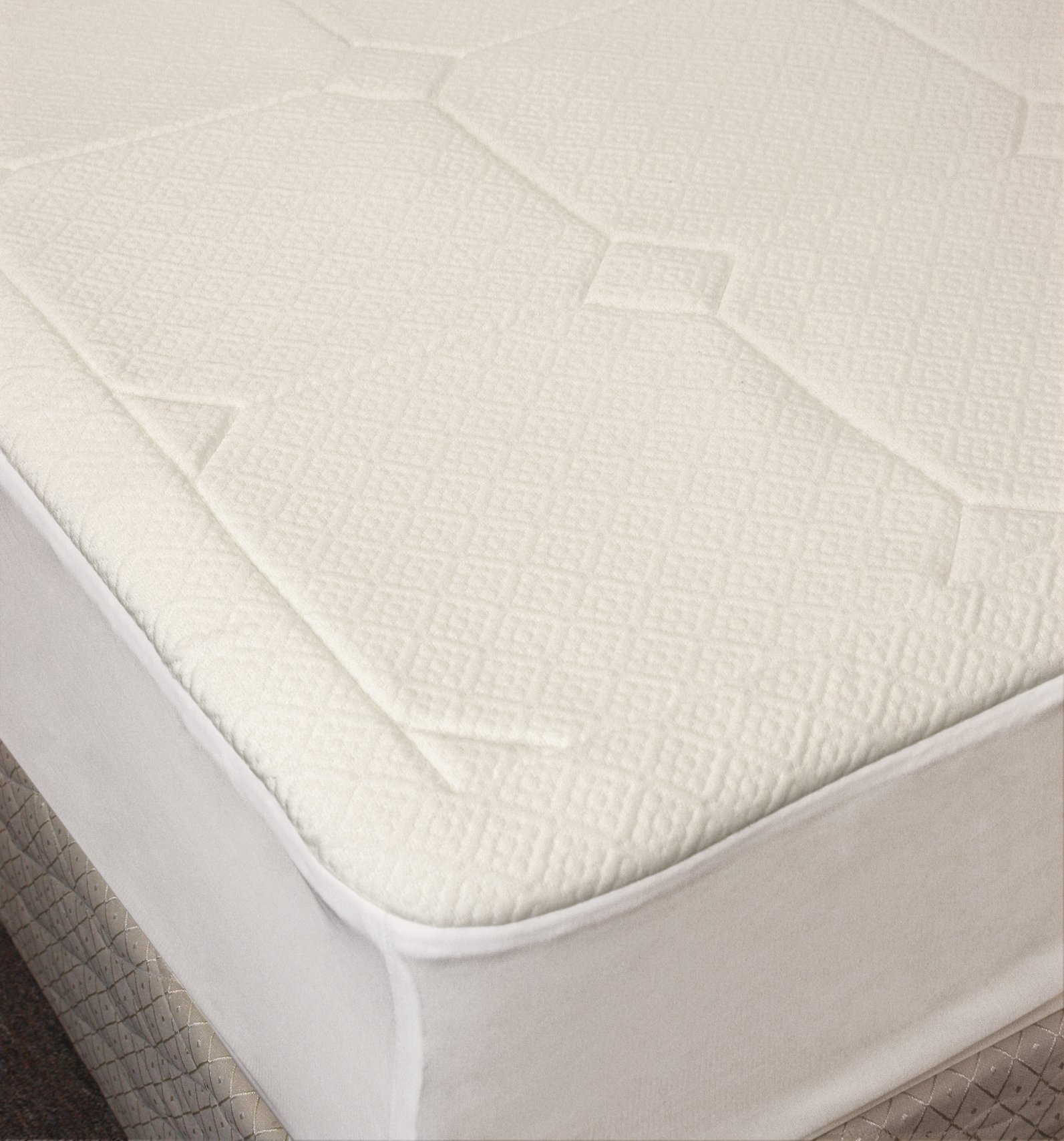Rio Home Fashions 1/2-Inch Quilted Memory Foam, Dust Mite and Allergen Resistant Mattress Pad, Full