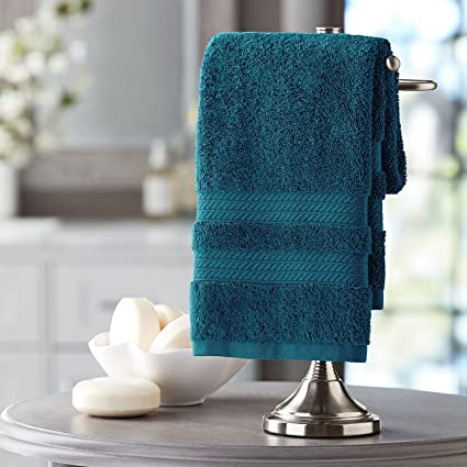 Members Mark Hotel Premier Collection 100% Cotton Luxury Hand Towel, Peacock