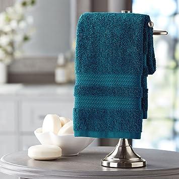 Hotel Premier Collection 100% algodón toalla de mano de lujo, pavo real: Amazon.es: Hogar