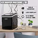 CLOUMOCY 2.2L Ice Makers Machine Countertop Commercial Home, Noise Reduction&Portable Intelligent LED Touch Screen, 9…