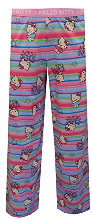 6732ef8fe Amazon.com: Hello Kitty Mini-stripe Capri Lounge Pants for women ...