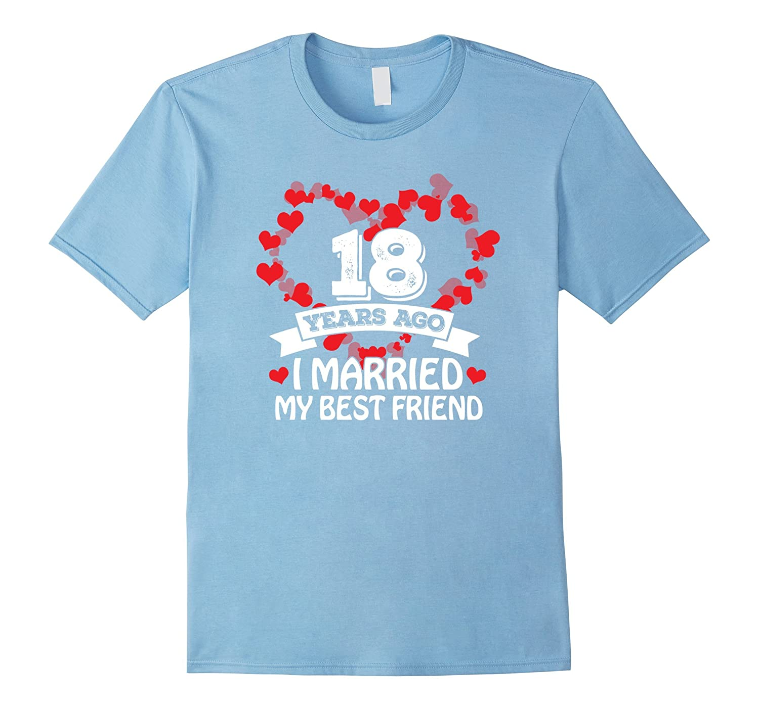 18th Wedding Anniversary Gift Ideas Husband And Wife T Shir Pl
