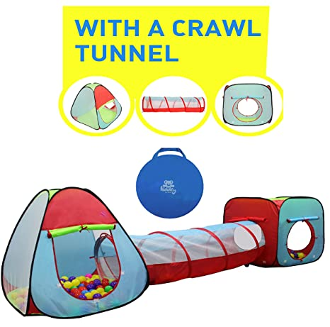 c9a13a05769 Amazon.com  Kiddey Children s Dual Play Tent with Tunnel (3-Piece ...