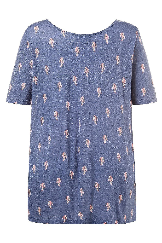 caa5d87d Ulla Popken Women's Plus Size Bird Print Slub Jersey Tee 712196 at Amazon  Women's Clothing store: