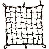 """Seah Hardware 15"""" x 15"""" Cargo Net 4.4 mm Diameter 2"""" x 2"""" Small Mesh with 6 ABS Hooks"""
