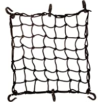 """SEAH 15"""" x 15"""" Cargo Net 4.4 mm Diameter 2"""" x 2"""" Small Mesh with 6 ABS Hooks"""
