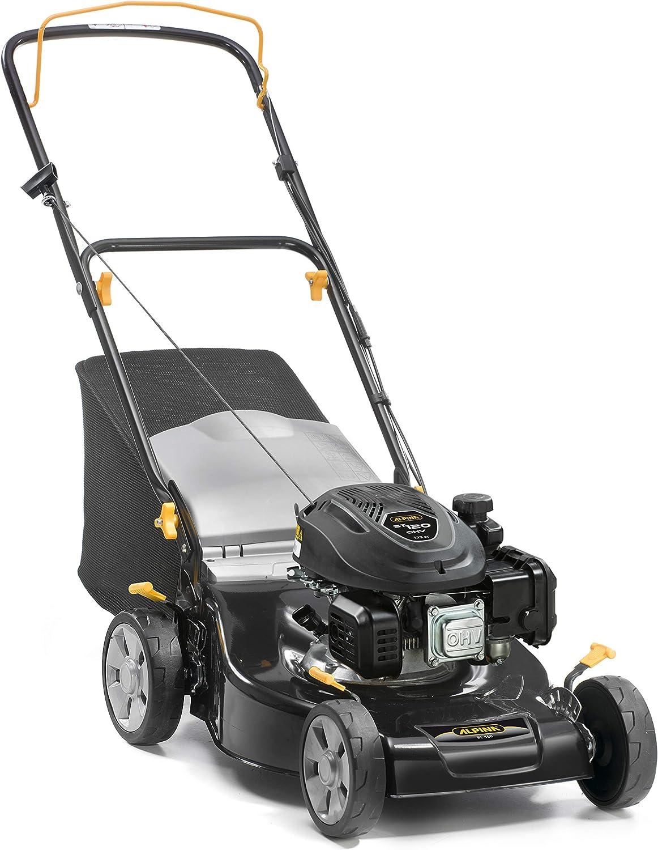 Alpina 295491044/A19 Cortacesped Gasolina BL 460, 123 CC, Negro, Ancho de Corte 46 cm, Capacidad de Bolsa 55 L