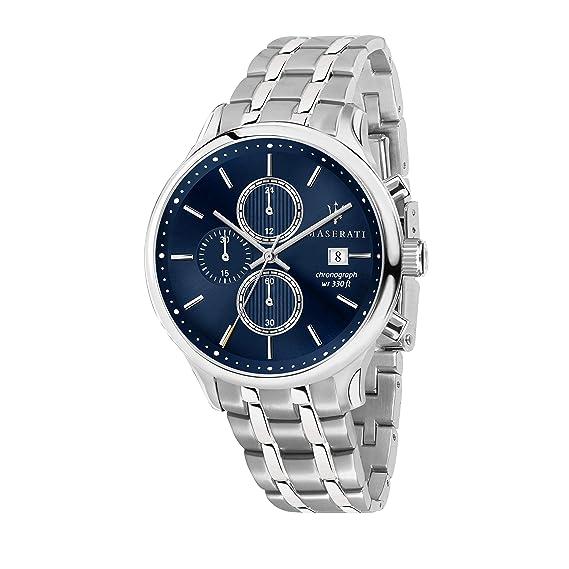 MASERATI Reloj Analógico para Hombre de Cuarzo con Correa en Acero Inoxidable R8873636001: Amazon.es: Relojes